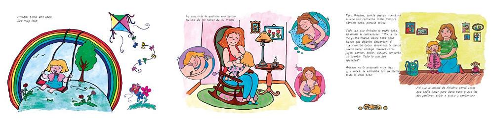 ilustraciones del libro Las tetas de mamá
